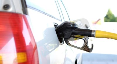 Gas nozzle in fuel tank